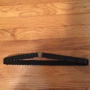 Anthropologie Black Stretch Belt